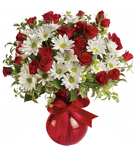 Teleflora's Red, White and You Bouquet