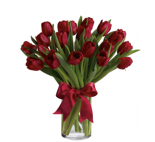 Teleflora's Radiantly Red Tulips Bouquet