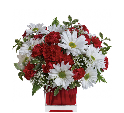Teleflora's Red and White Delight Bouquet