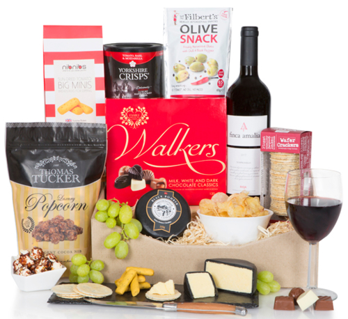 Gourmet Wine, Cheese, and Snacks