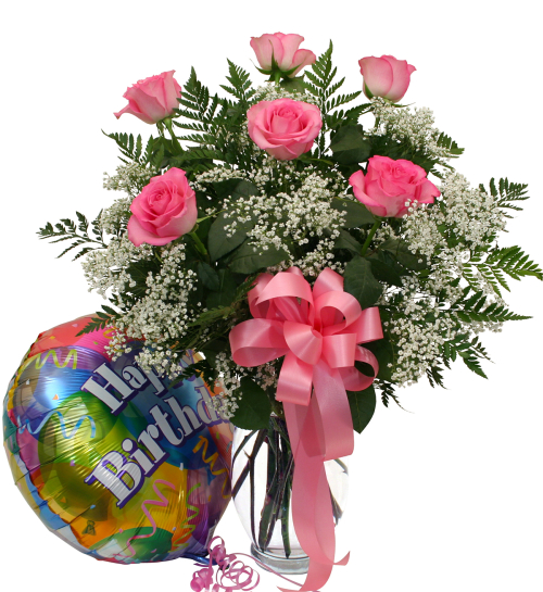 USA Flower Delivery Birthday Flowers Roses And Balloon USB5AA Canada Flowersca