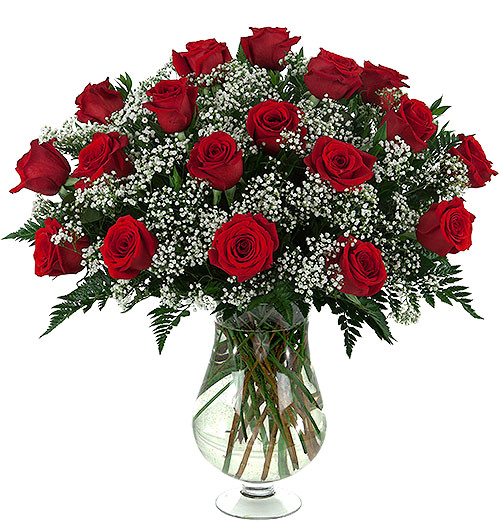 Eighteen Long Stem Red Roses